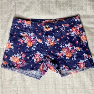 Squeeze Girls Butterfly /& Floral Midi Shorts